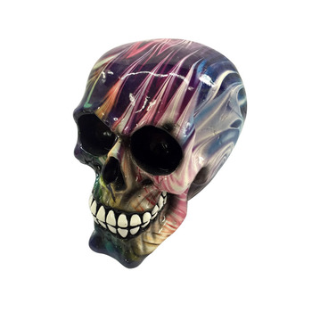 2019  New Colorful 3D Halloween Decoration resin skull wholesale