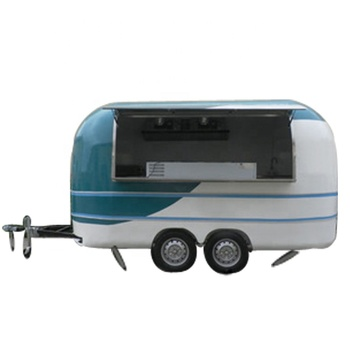 European Standard round shape Mobile food catering trailers fast food car Burger Kiosk concession trailer