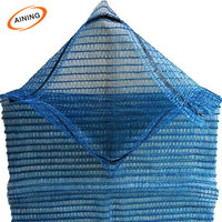 Blue Color Shellfish Drawstring Raschel Bag Mesh /Orange Net Sacks