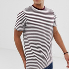 China Factory Custom cheap fashion men cotton red stripe t-shirt