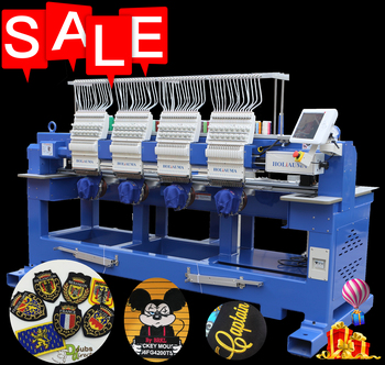 Holiauma 4 Head 15 Needles Tajima Computer Embroidery Machine with Best Machine Embroidery Commercial Home Use