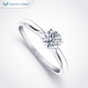 Tianyu fashion jewellery 925 sterling silver gold plated moissanite wedding engagement rings