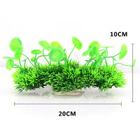 Hot 2019 Aquarium Fish Tank Artificial Small lotus leaf water grass for Fish Tank Decorations