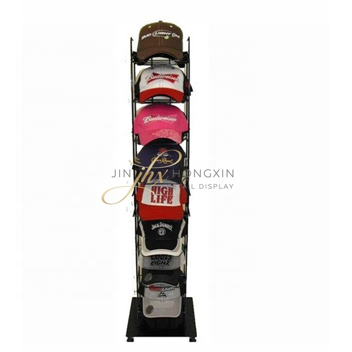 Metalen Vrijstaande display rack/Hoed Retail Display Stand/Cap display rack