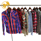U-Clothes Factory Wholesale Second Hand Clothes Male Flannel Shirt Female Bale Used Clothes in China