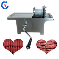 Hand-rolling sausage tying and knotting machine sausage linker and knot machine