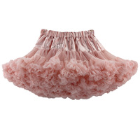 Boutique Baby Girls Fluffy pettiskirts double tulle dance ballet skirts dress bow party birthday skirts
