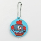 Promotional souvenir soft pvc rubber cartoon pirate ship skeleton keychain for kids
