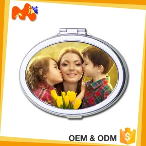 Sublimation Personalized Image Printable Vanity Compact Mirrors Wholesale B09
