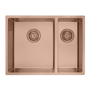 Rose gold double kitchen sink,Radius 10 stainless steel 304 kitchen sink double bowl,Kitchen sink rose gold