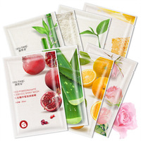 FDA OEM plant fruit extract moisturizing korean face sheet mask oil control Blackhead remover beauty facial mask