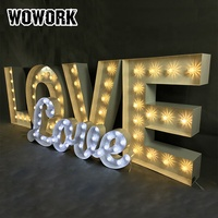 hot sale customized OEM large light up love letter light waterproof event party supplier wedding decoration