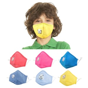children pollution mouth valve anti dust mask blue