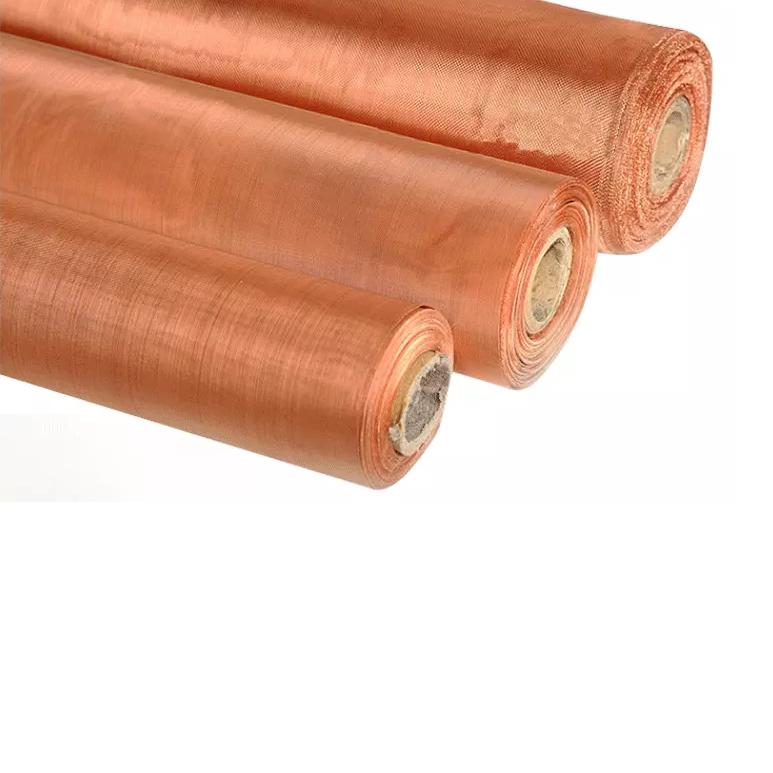 ultra fine mesh 160 mesh 120 Faraday cage shielding copper wire mesh cloth