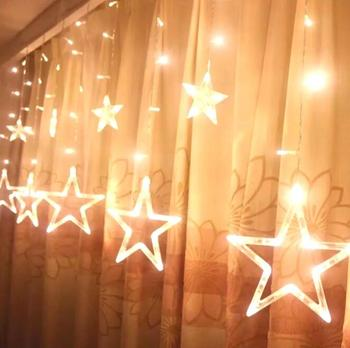 popular distribution household bedroom ins style xmas deco hanging led Star Light