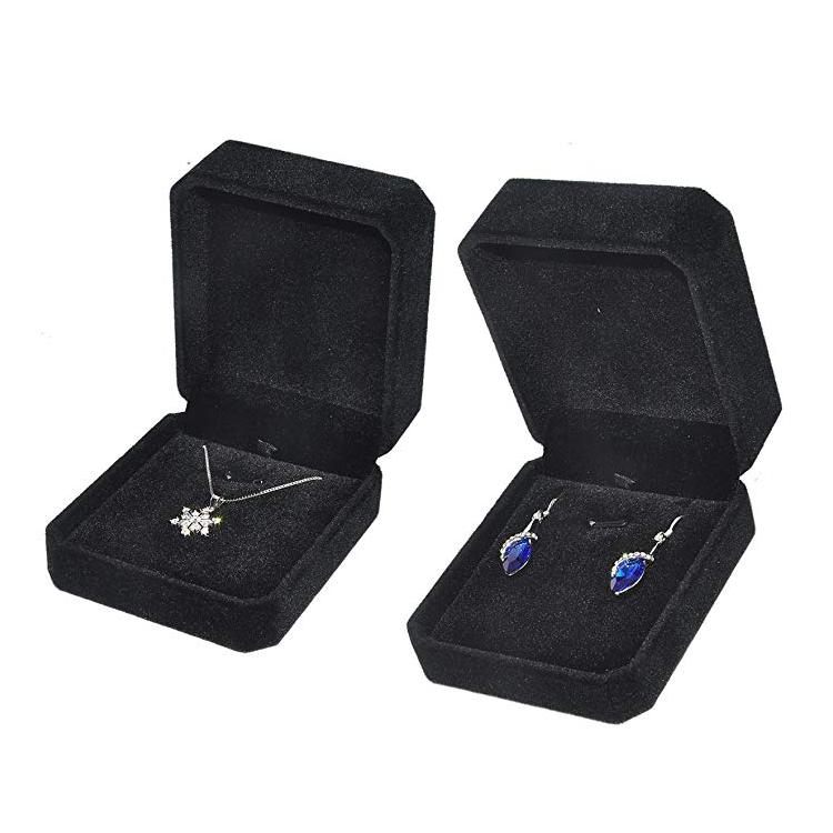 Custom luxury velvet fabric inserts jewelry packaging box