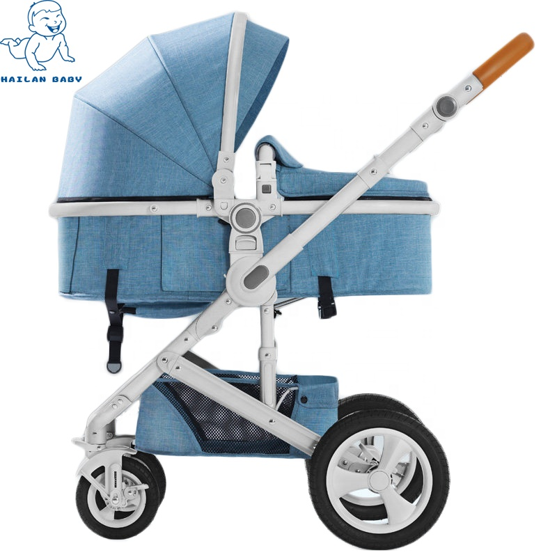 High duty detachable aluminum foldable stroller baby car seat