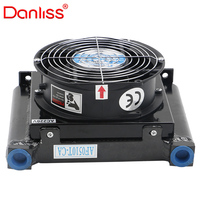 AF1025T-CA 25L/min small hydraulic air cooled oil cooler with 12v / 24v fan