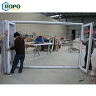 AS2208 Accordion Temporary PVC Foldable Bi Folding Internal Door With Glass