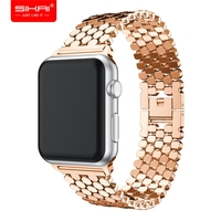 SIKAI 38mm/42mm Diamond Metal Quick Release Gold Watch Bands Watch Strap For Apple Watch Strap