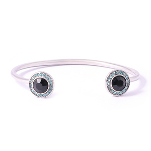 Fancy Owl Eyes Clasp Rhinestone Bracelets&High-end Stainless Steel Cuff Bracelet Bangles for lovers lucky charm bracelets