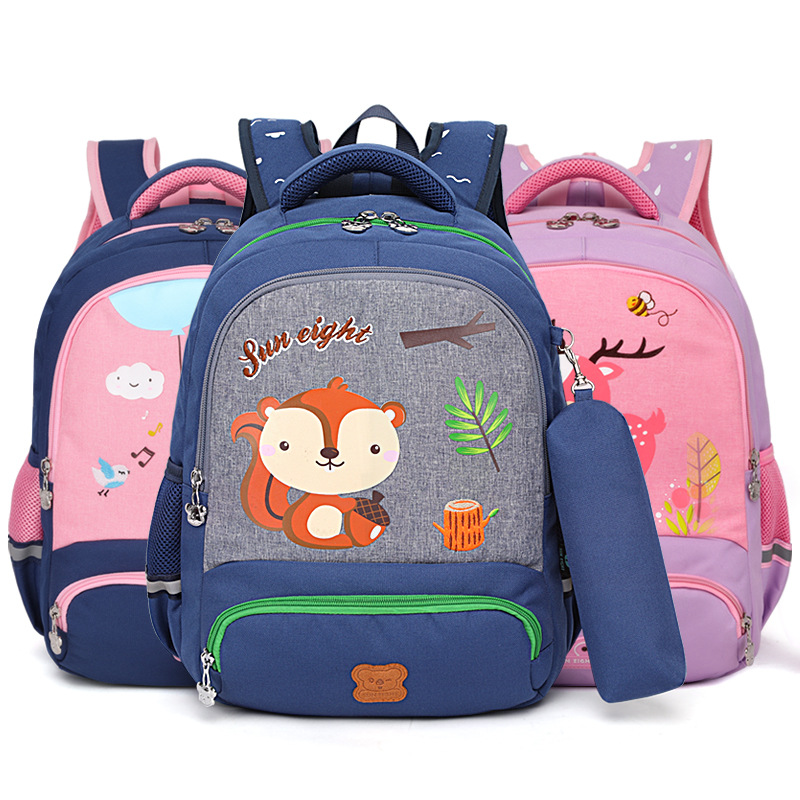 Durable backpack children travel cartoon school rucksack
