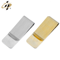 High quality custom promotional cool cheap gold sliver black blank metal money clips