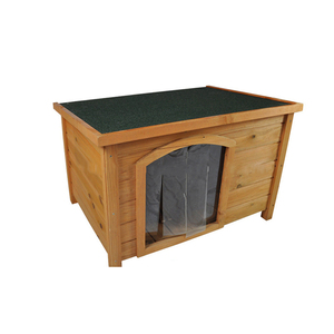 Hot Custom Design Outdoor Heavy Duty large wooden Dog Kennel House with door curtain Factory Direct