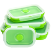 FDA quality silicone and PP collapsible lunch box airtight leak proof BPA free