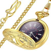 Latest Vintage Alloy Retro Fob Quartz Pocket Watch With Pendent Necklace Chain