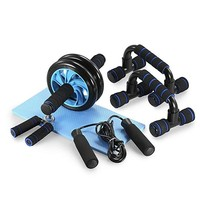 Ab Wheel with Ergonomic Grip and Multiple Angles Abdominal Exercise Wheel with Push Up Bars