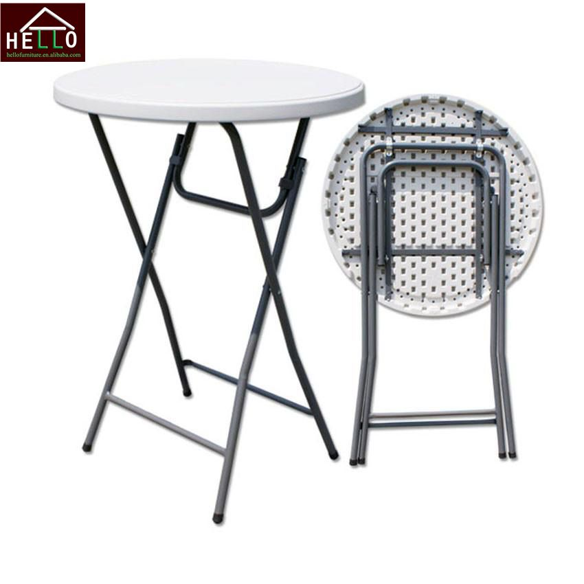 dia 80*110 cheap round plastic folding cocktail table for <strong>bar</strong>