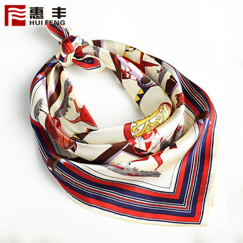 Custom Fashion Silk Scarf Brand Digital Print ,Cheap Silk Scarf