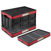 Cheap black plastic collapsible storage box for car trunk