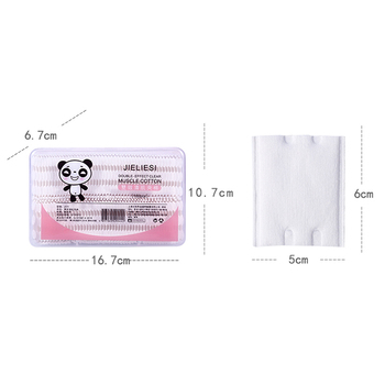 Manufacture perfessinal  pure  cotton pads makeup romover 100 pcs in pack