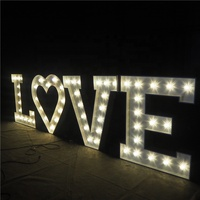 Outdoor Custom Display LOVE Letters Wedding Decoration Sign LED Marquee Light Letter