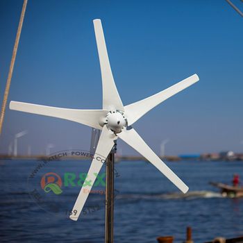 400W small wind turbine generator with 5 blades, used for street  lamp,12V/24V, View 400w wind turbine, R&X Product Details from Nantong R&X  Energy