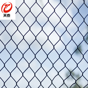 Green color Pvc coating sports field fence chain link fence