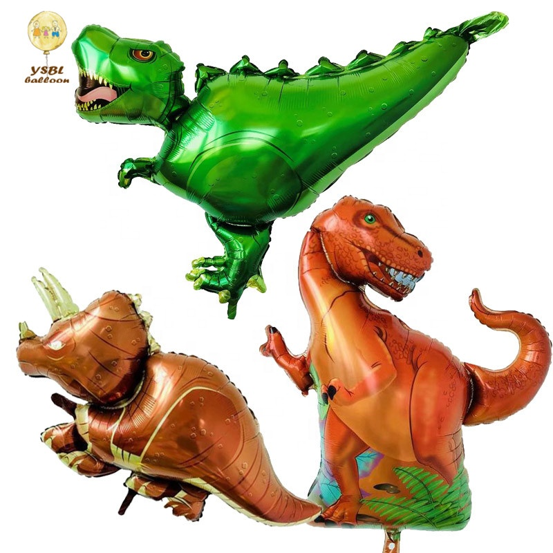 Dinosaur Balloons Orange Light Blue Fruit Green Latex Balloons for Dino Jungle Jurassic Birthday Party Decorations Supplies
