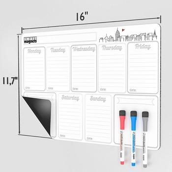 2019 Two Month Laminated Dry Erase Calendar for Kitchen