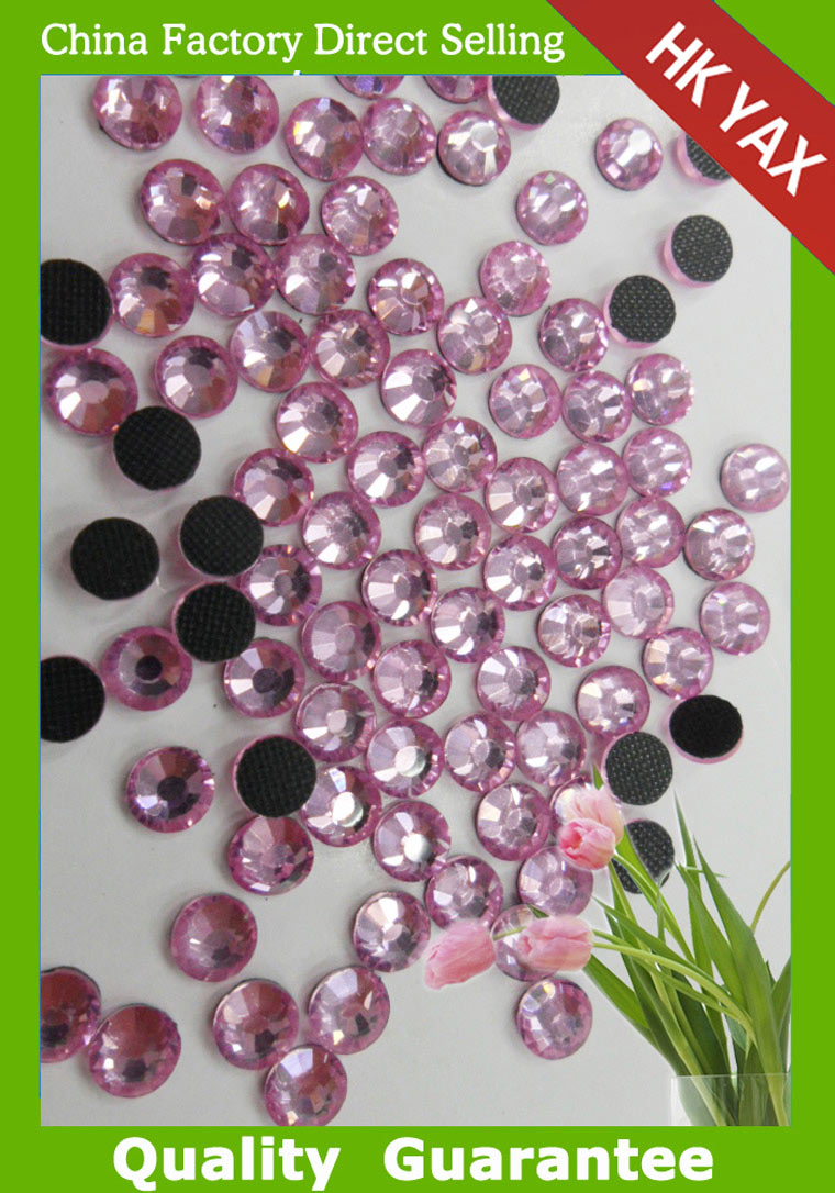 0619N high quality round shape stone DMC flat back hotfix DMC Crystals for wedding decoration china wholesale