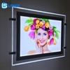 marketing advertising crystal acrylic light led poster frame hanging photo display