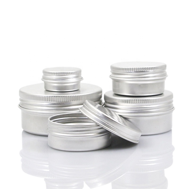 5ml - 250ml Wholesale Cosmetic Aluminum Jar Empty Lip Balm Container Storage Small Tin Box Tin Can For Cream Packaging (NAL01)