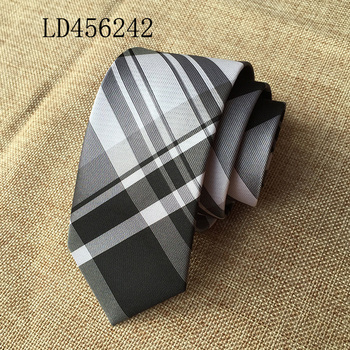 Wholesale brand black and white italian silk ties men fast delivery LD456242