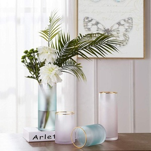 Glass Cylinder Vases 8 Inch Tall - Multi-use: Pillar Candle, Floating Candles Holders or Flower Vase