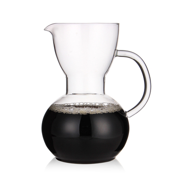 Thickened hand - made glass coffee pot for the coffee pot maker