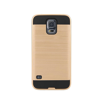 Wholesale Spare Parts Brushed Mobile Back Cover Shockproof Hybrid TPU PC Phone Case for Samsung Galaxy S5