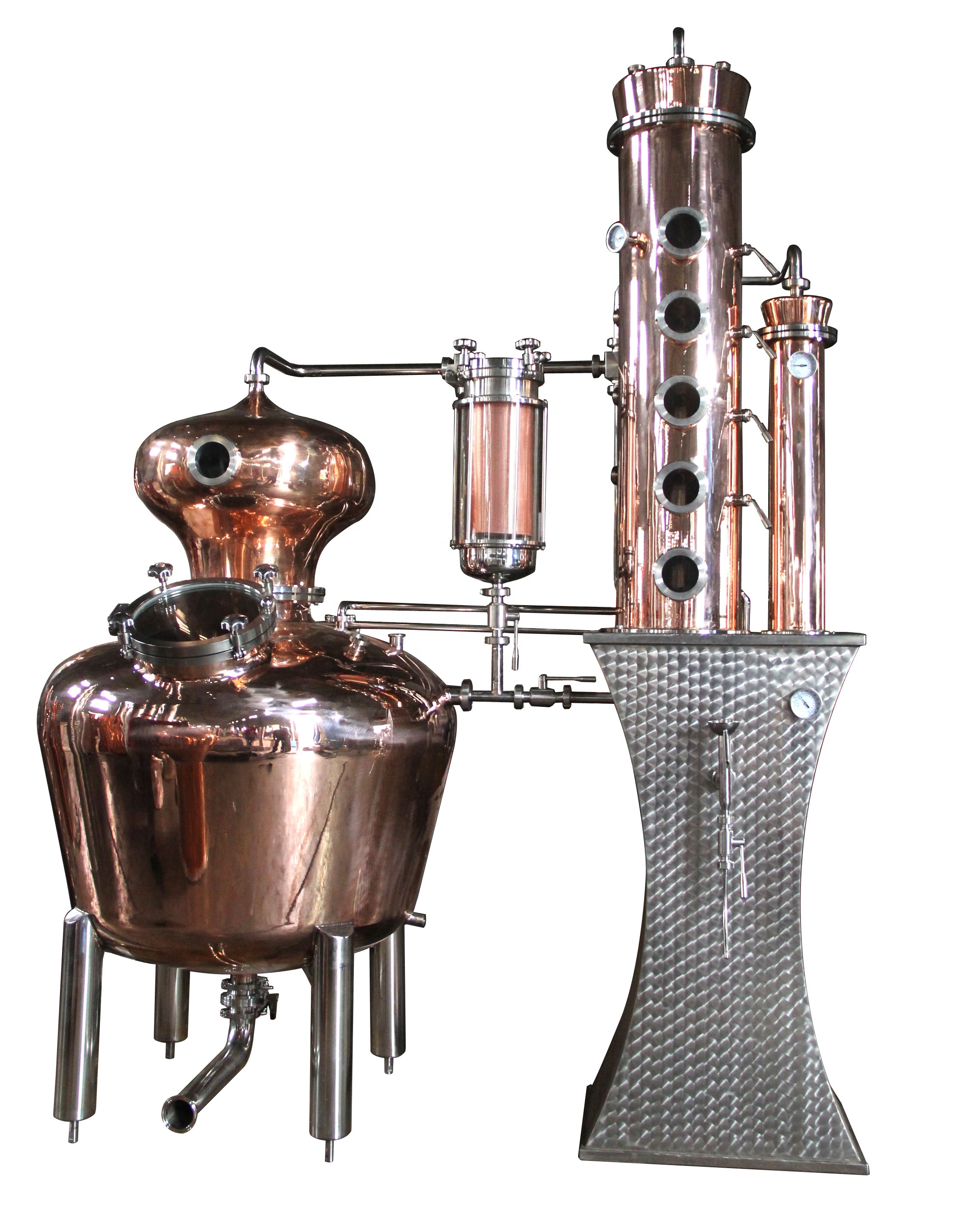 4 Or 6 Copper Plate Stainless Steel Moonshine Reflux Still For Sale - Buy  Reflux Still,Moonshine Still,Copper Still Product on Alibaba com