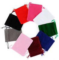 Wholesale Custom Velvet Bag Drawstrings Pouches Small size Jewelry Gift Display Packing Bags