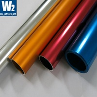 Custom OEM colored 80mm 300mm 350mm 240mm aluminum round pipe powder coat aluminum tube